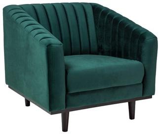 Atzveltnes krēsls Signal Meble Asprey 1 Velvet Green/Wenge, 83x78x60 cm