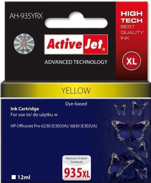 ActiveJet Cartridge AH-935YRX For HP 12ml Yellow