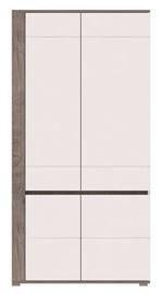 Skapis WIPMEB Ares AS11 Enderein Oak/White High Gloss, 100x55x196 cm