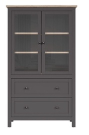 Шкаф-витрина Black Red White Bocage Graphite/San Remo Oak, 106x47x180 см