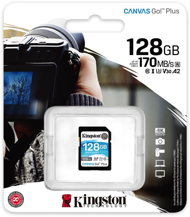 Kingston Canvas Go! Plus 128GB SDXC UHS-I Class 10