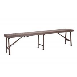 Verners Saravak Folding Steel Bench Brown
