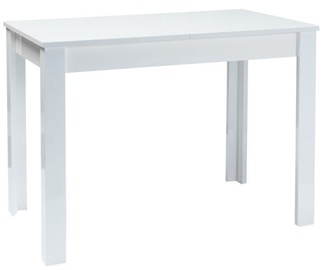 Обеденный стол Signal Meble Albert White, 1200 - 1650x680x750 мм