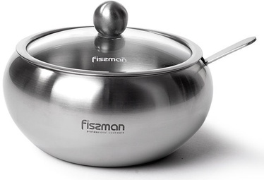Fissman Sugar Bowl With Glass Lid And Spoon 460ml