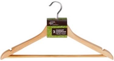 Вешалка для одежды Home4you, 3 шт., 44 см