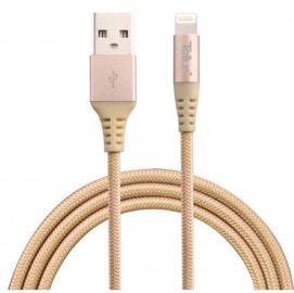 Tellur Kevlar USB To Apple Lightning Cable 1m Gold