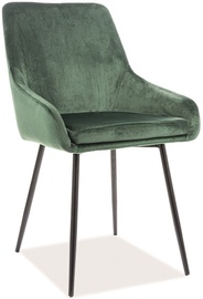 Ēdamistabas krēsls Signal Meble Albi Velvet Green/Black, 1 gab.