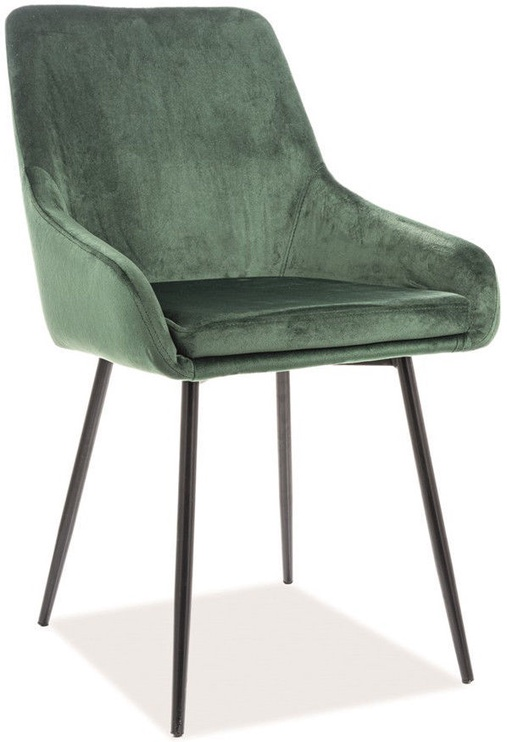 Стул для столовой Signal Meble Albi Velvet Green/Black