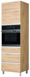 Bodzio Monia High Rise Oven Cabinet 60 Left Brown