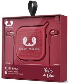Наушники Fresh 'n Rebel Vibe Rockbox Pebble in-ear, красный