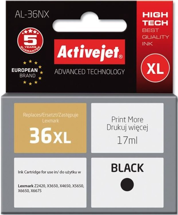 ActiveJet Cartridge AL-36NX For Lexmark 17ml Black