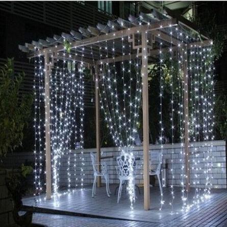 Elektriskā virtene Niveda LED Curtain White, 3x3 m