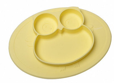 Fissman Owl Divided Plate 27x20x2cm Yellow