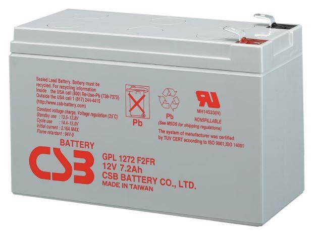 CSB GPL1272 F2 12V/7.2Ah Battery