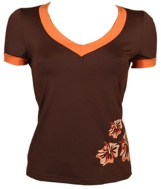 Bars Womens T-Shirt Brown 111 L