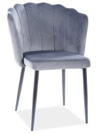 Стул для столовой Signal Meble Modern Roksana Velvet, серый