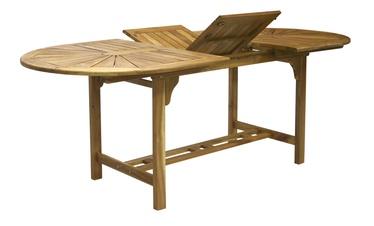 Садовый стол Home4you Finlay 13183, коричневый, 153 - 195 x 90 x 72 см