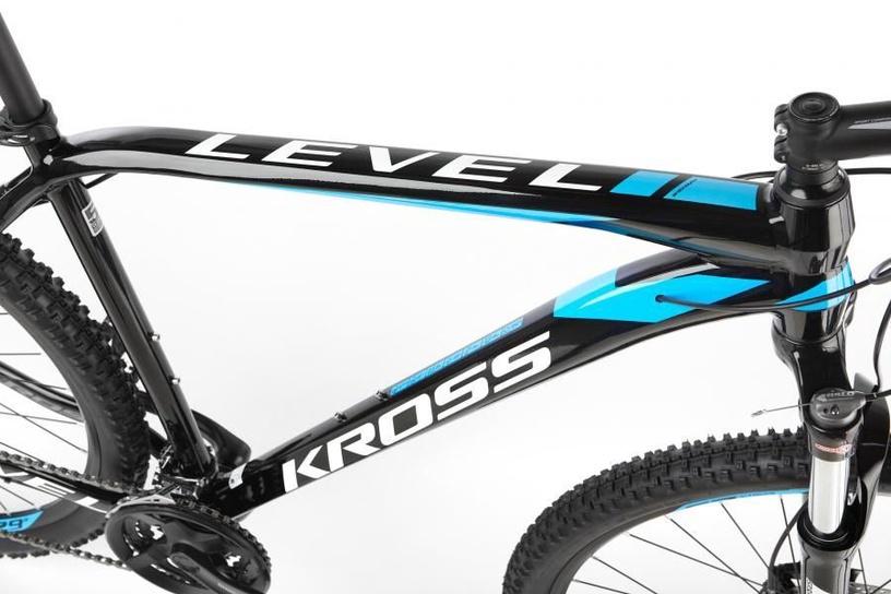 """Kross Level 2.0 L 29"""" Black Blue White Glossy 19"""