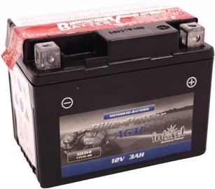 Аккумулятор IntAct Bike-Power AGM YTX4L-BS, 12 В, 3 Ач