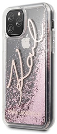 Karl Lagerfeld Glitter Signature Back Case For Apple iPhone 11 Pro Rose Gold