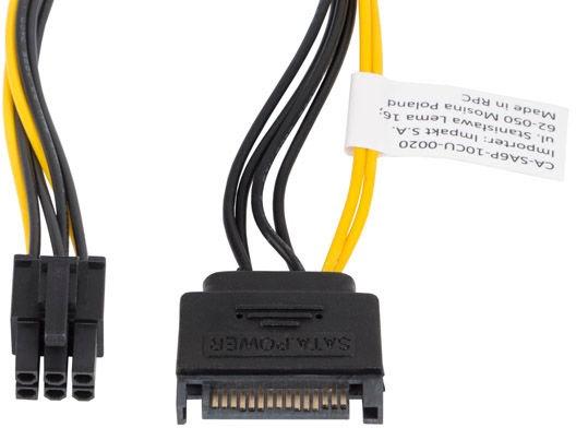Lanberg SATA Male to PCI Express 6-Pin CA-SA6P-10CU-0020