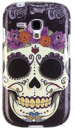 Zooky Silicone Back Case With Skulls Art Design Samsung Galaxy S3 Mini