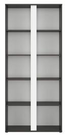 Black Red White Graphic Bookshelf 85x191cm Black