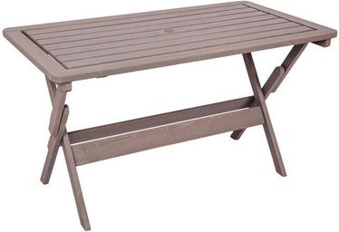 Dārza galds Folkland Timber Heini-4 Graphite, 130 x 70 x 73 cm
