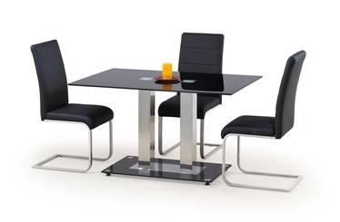 Pusdienu galds Halmar Walter 2 Black, 1300x800x740 mm