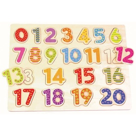 Wooden Educational Puzzle Numbers L20001