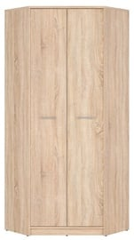 Гардероб Black Red White Nepo Plus Sonoma Oak, 79.5x79.5x197 см