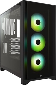 Corsair iCUE 4000X RGB Mid-Tower ATX Black