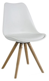 Ēdamistabas krēsls Signal Meble Eric Buk White, 1 gab.