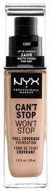 Tonizējošais krēms NYX Can't Stop Won't Stop CSWSF05 Light, 30 ml