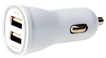 Techly Two USB Car Charger White 305281