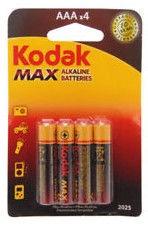 Kodak LR03-4BB AAA Max Batteries 4x