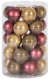 Ziemassvētku eglītes rotaļlieta Home4you Mixed Colors, 60 mm, 30 gab.