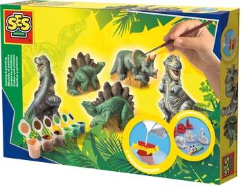 SES Creative Children's Dinosaurs Casting & Painting Set 01406