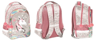 Paso Unicorn School Backpack w/ Pencil Case & A5 Notebook Multicolor