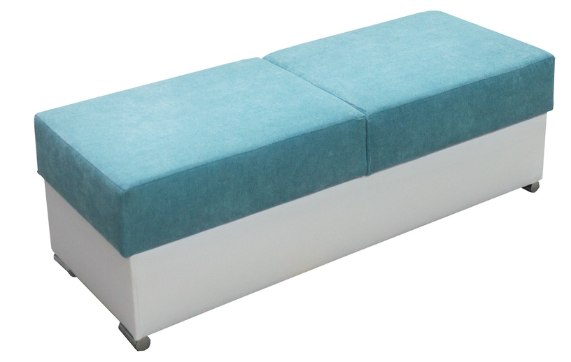 Pufs Idzczak Meble Grand Blue/White, 140x53x45 cm