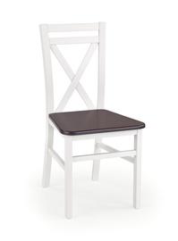 Стул для столовой Halmar Dariusz 2 White/Dark Walnut