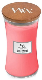 Aromātiskā svece WoodWick Melon & Pink Quartz, 120 h, 0.6095 kg