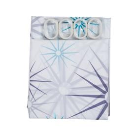 DOMOLETTI POD-003 Bath Curtain with Hooks 180x180cm