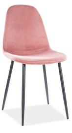 Ēdamistabas krēsls Signal Meble Fox Velvet, rozā