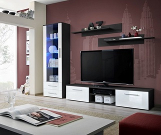 ASM Galino A Wall Unit Black/White Gloss