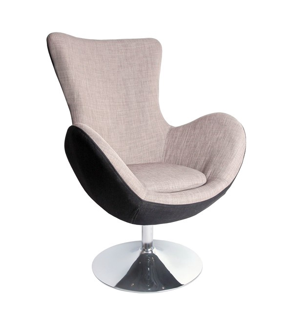 Atzveltnes krēsls Halmar Butterfly Grey, 76x75x95 cm