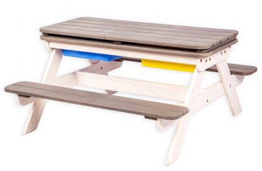 Āra mēbeļu komplekts Folkland Timber Multifunctional Children's Picnic Table White/Graphite