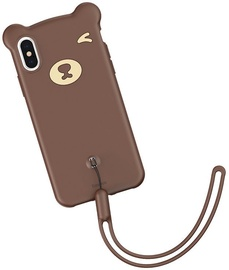Baseus Bear Back Case For Apple iPhone X/XS Brown