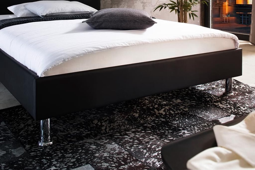 Кровать Meise Möbel Miami Black, 200x140 см