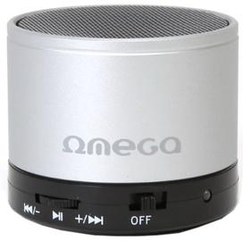 Bezvadu skaļrunis Omega OG47B Metal Body Silver, 3 W
